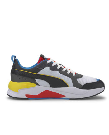 Puma X-Ray Trainers White Blk Dk Shadow Red Blue 372602 03