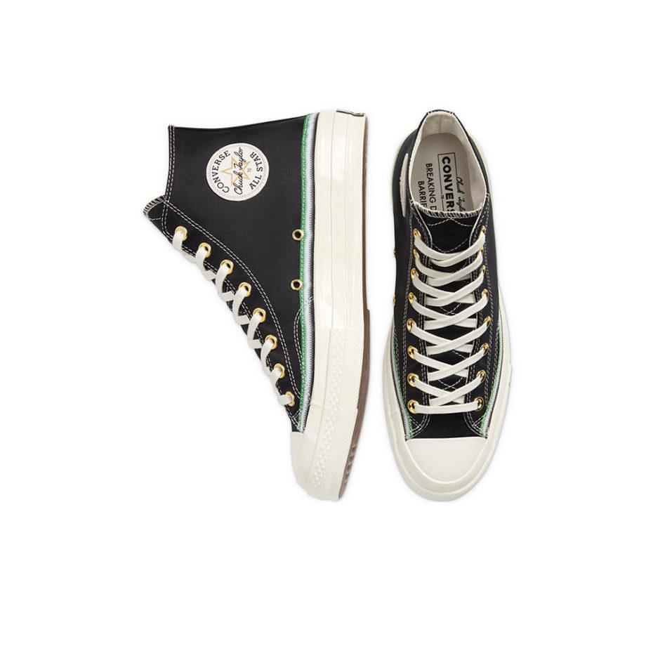 Converse Chuck 70 Hi Black Green Egret Unisex 167057C
