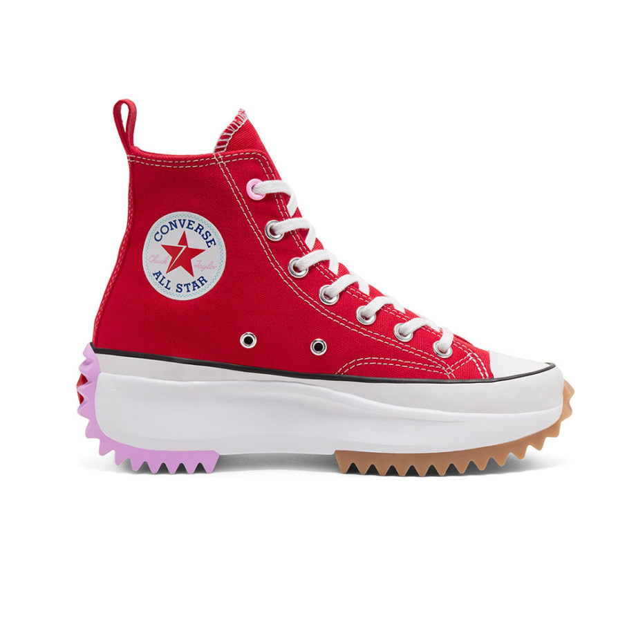Converse Run Star Hike High Top - University Red/Peony Pink - 167107C