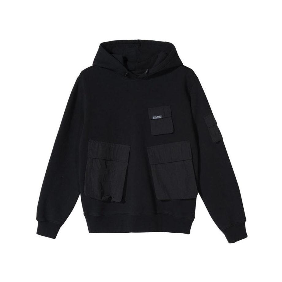 Stussy Cargo Fleece Hood / Felpa Black 218094