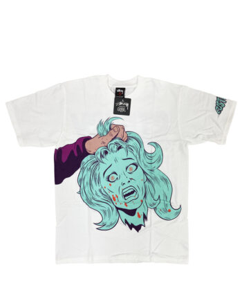 Stussy Customade Diabolical Gear Head White Tee Limited Edition FCSC1901918