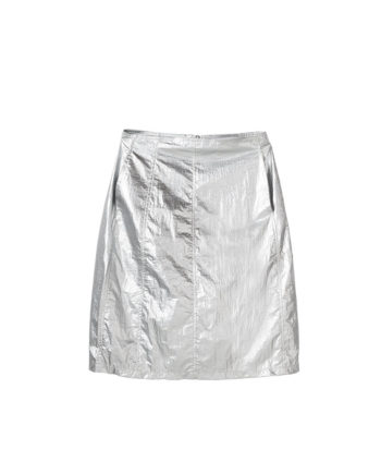 Stussy Shiny Panel Skirt / Gonna Silver 211175