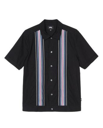 Stussy Striped Knit Panel Shirt Black 1110093