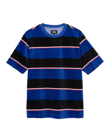 Stussy Velour Stripe Shirt Blue 1140196