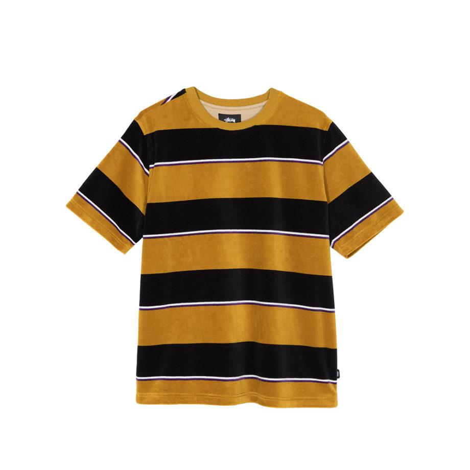 Stussy Velour Stripe Shirt Mustard 1140196
