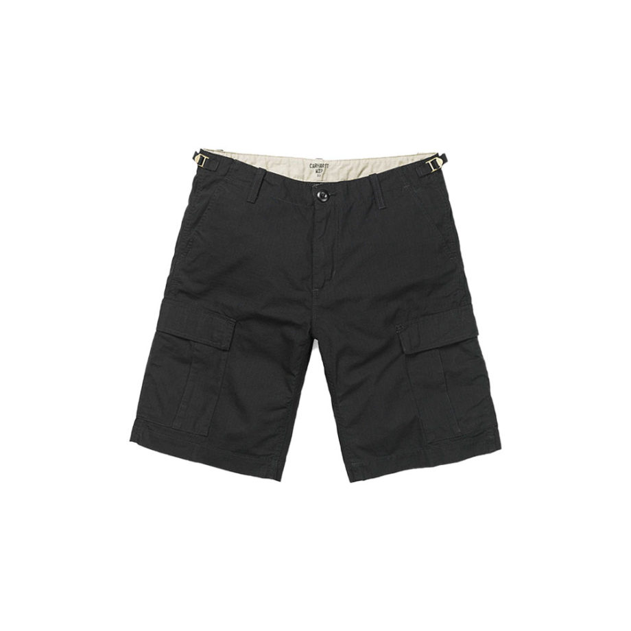 Carhartt Wip Bermuda Aviation Short Black Rinsed
