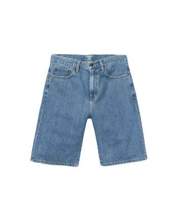 Carhartt Wip Bermuda Jeans Pontiac Short Blue Stone Bleached