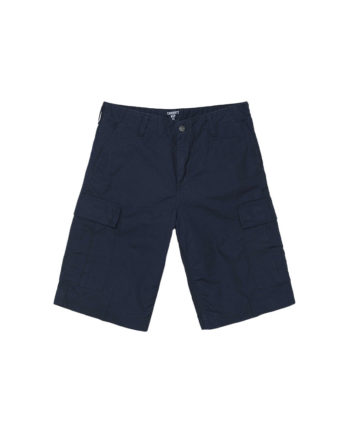 Carhartt Wip Bermuda Regular Cargo Short Dark Navy Rinsed