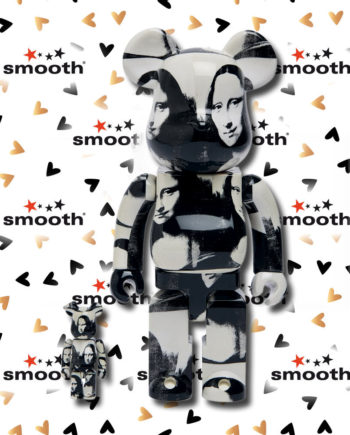 Medicom Toy Andy Warhol Double Mona Lisa Smile 100% 400% Bearbrick Set Limited Edition