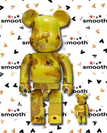 Medicom Toy Van Gogh Museum Sunflowers 100% 400% Bearbrick Set Limited Edition