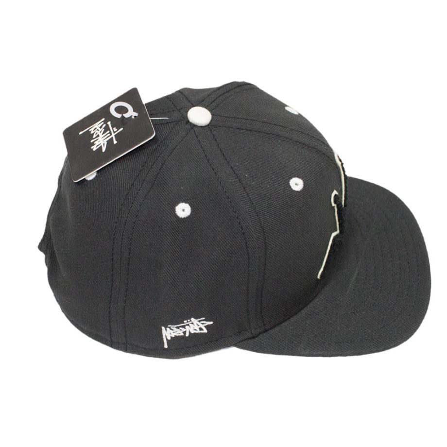 Stussy Chenille Snapback Cap Black - Cappello Nero