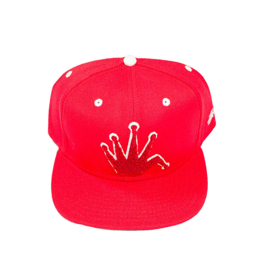 Stussy Chenille Snapback Cap Red - Cappello Rosso
