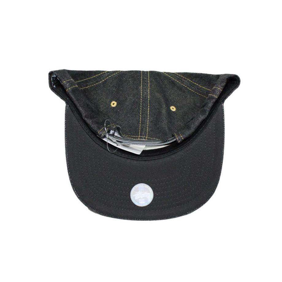 Stussy Stock Lock Denim Cap Black - Cappello Nero