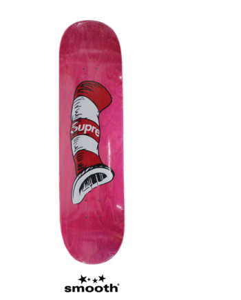 Supreme Cat in the Hat Skateboard Deck Pink 8.25""