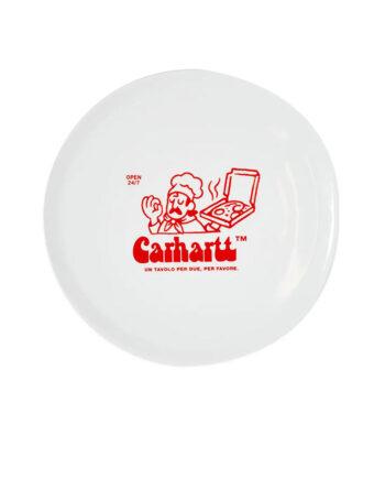 Carhartt Wip Bene Pizza Plate White I0280730200