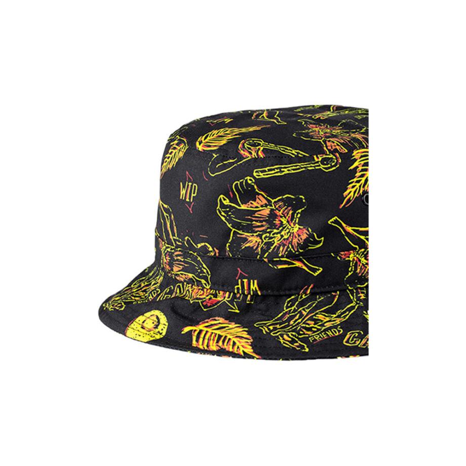 Carhartt Wip Paradise Bucket Hat I02761109Q00 Paradise Print - Yellow