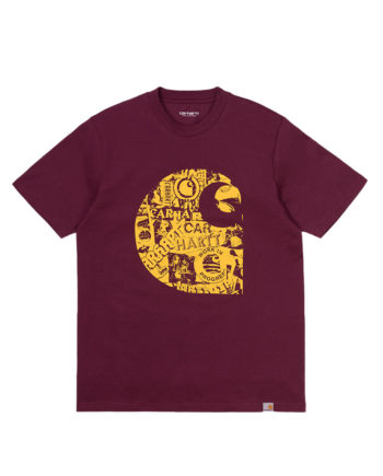 Carhartt Wip S/S Collage C T-Shirt Shiraz/Sunflower