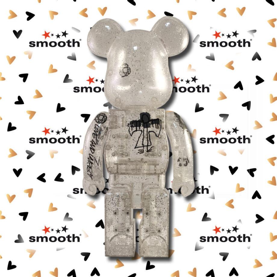 Medicom Toy Futura Unkle Glitter Clear Bearbrick 400% Love & Unrest