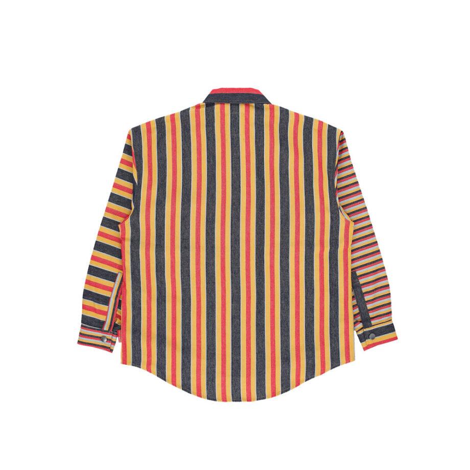 Napapijri By Martine Rose G-Mawgan Shirt Yellow Stripe NP0A4EDP46S1