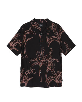 Stussy Banana Tree Shirt / Camicia Black 1110095
