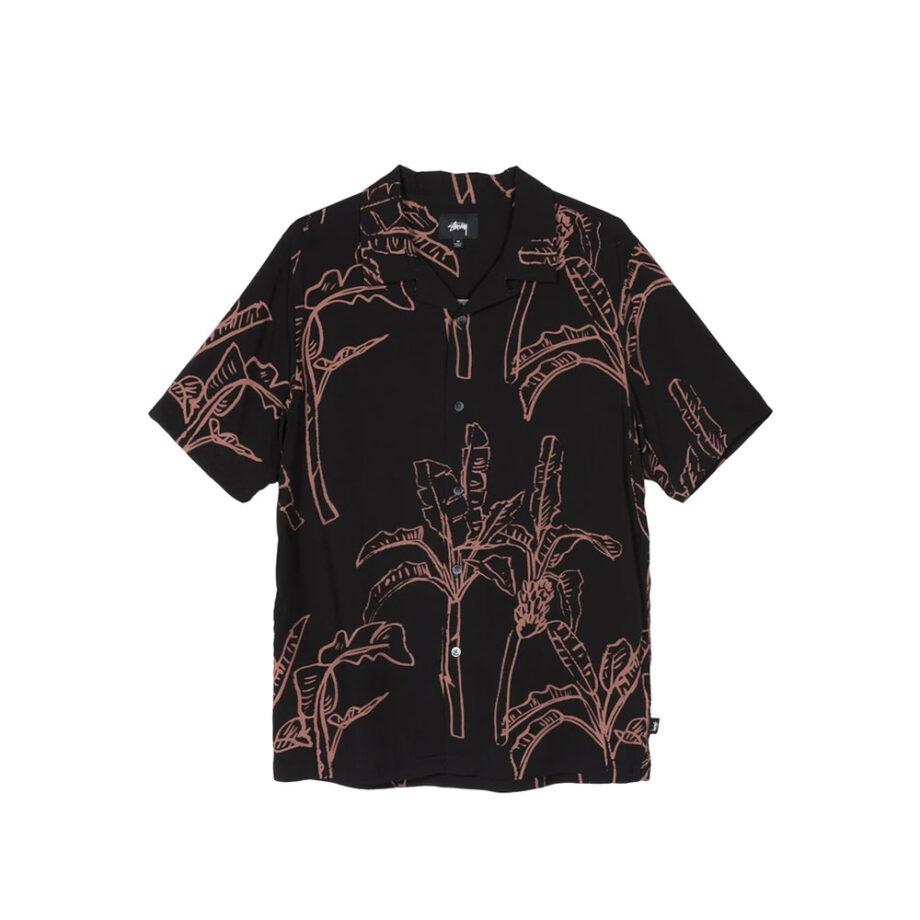 Stussy Banana Tree Shirt / Camicia Black 1110095