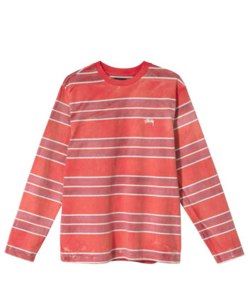 Stussy Bleach Stripe Shirt Red 114
