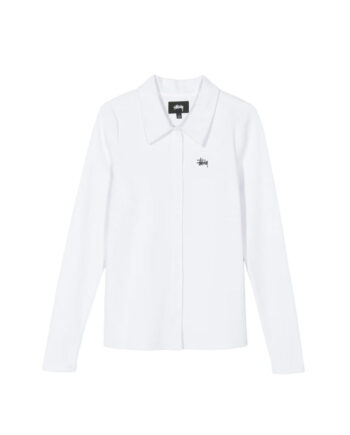 Stussy Maya Ls Button Down / Camicia White 214522