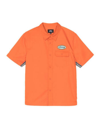 Stussy Side taped Garage Shirt Orange 1110091