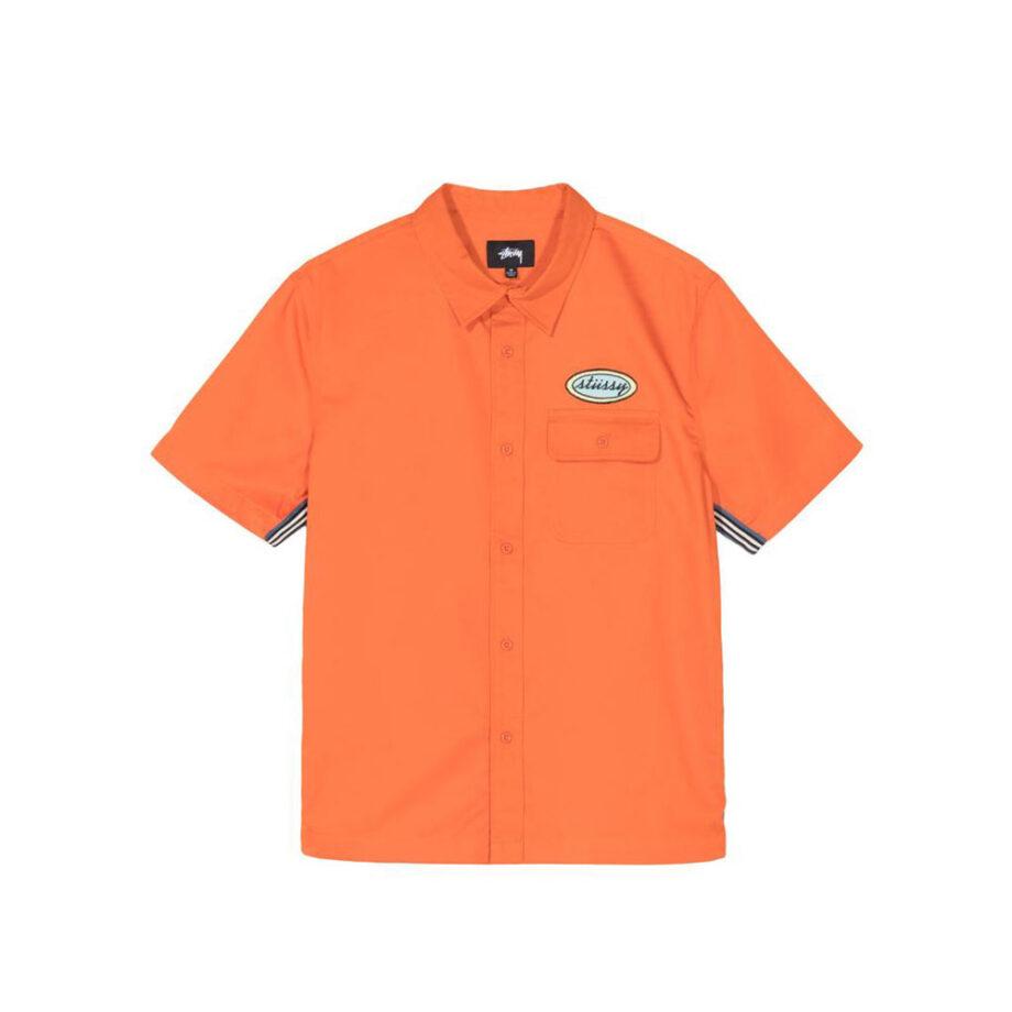 Stussy Side taped Garage Shirt Orange 1110091