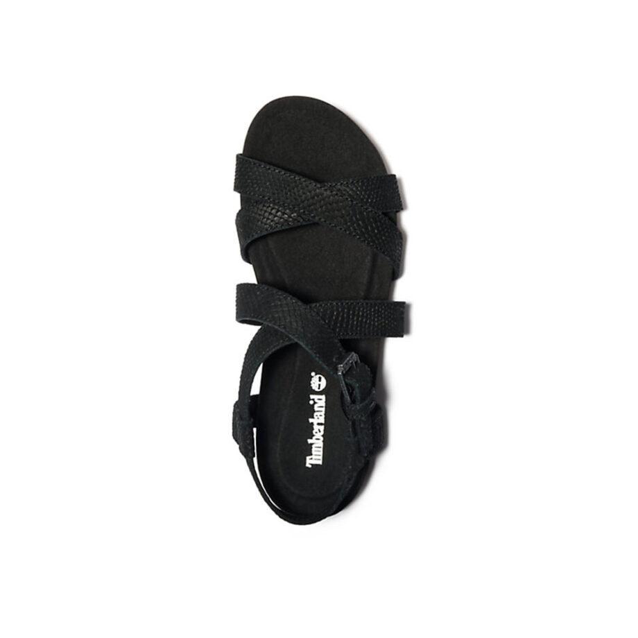 Timberland Malibu Waves Strap Sandal Black Suede TB0A2ATK015