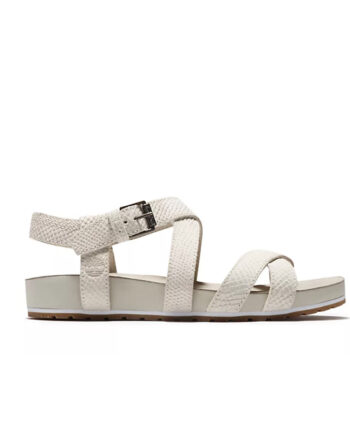 Timberland Malibu Waves Strap Sandal White Suede TB0A2ATVF48