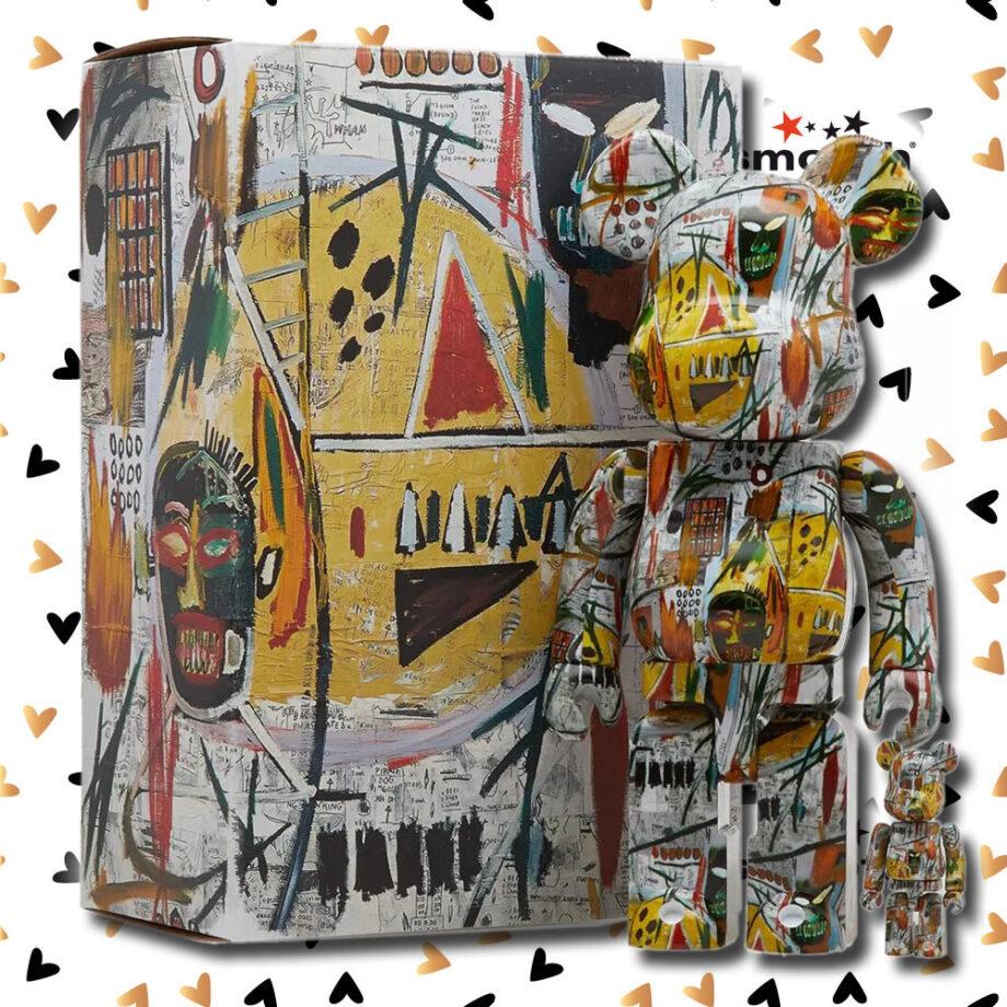 Medicom Toy Jean-Michel Basquiat Bearbrick Set 100% 400% #1 Limited Edition