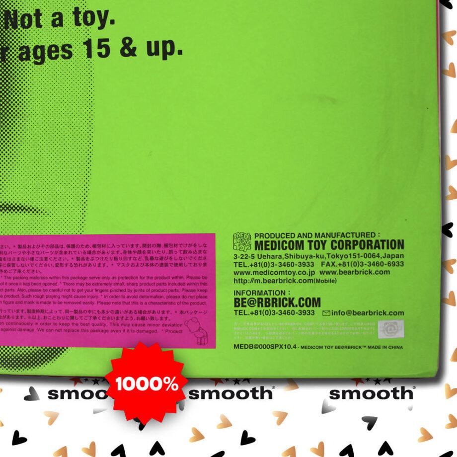 Medicom Toy Sex Pistols Pink Green Version Bearbrick 1000% 2007