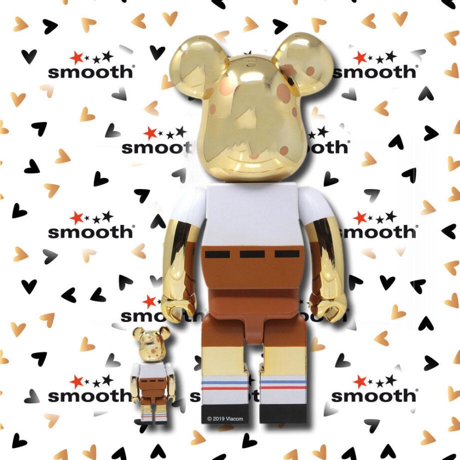 Medicom Toy Spongebob Squarepants Gold Chrome Bearbrick 100% 400