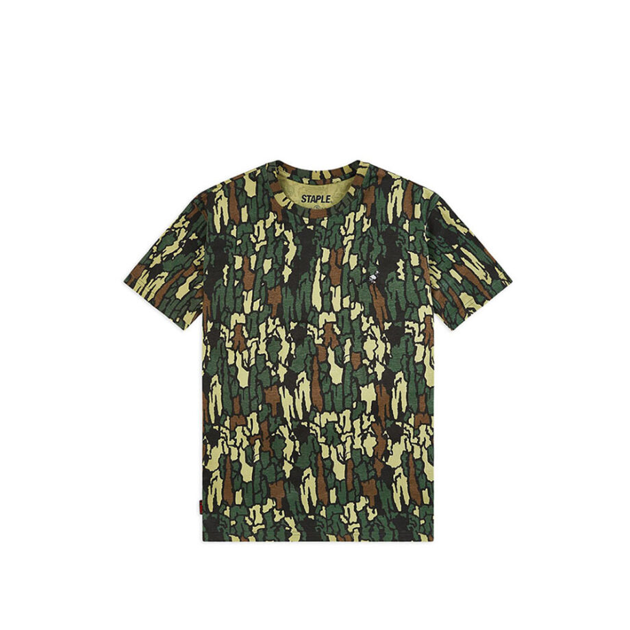 Staple Pigeon Embroidered T-Shirt Olive 1910C5769