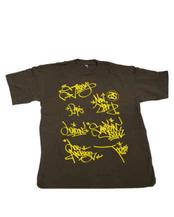 Stussy Brown Tee World Tour 2006 Kegr Limited Edition