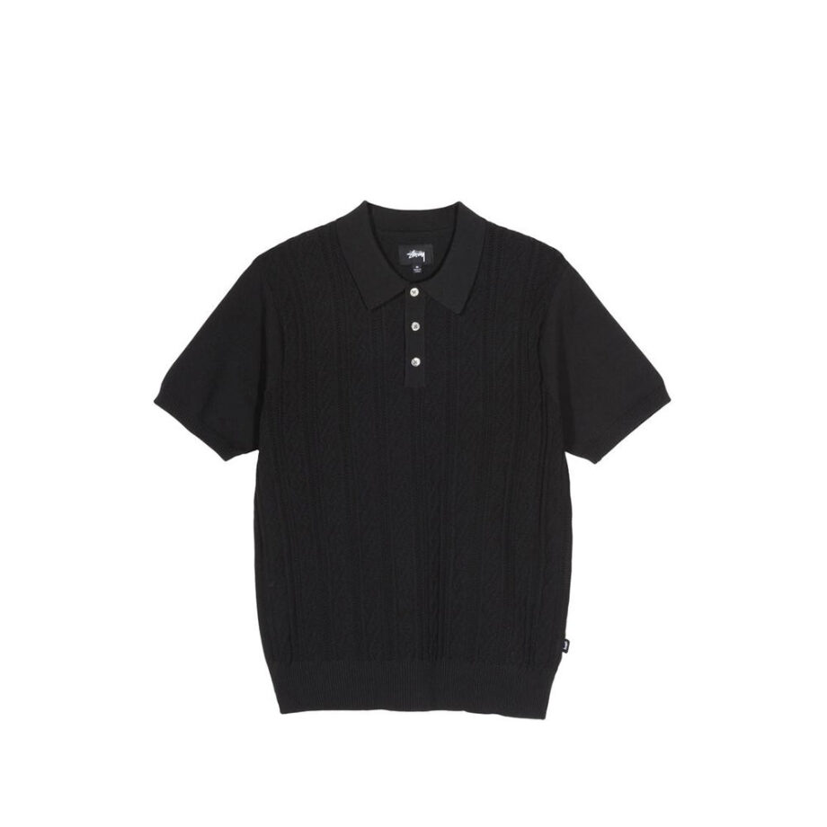 Stussy Cable SS Polo Black 117077
