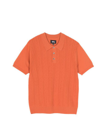 Stussy Cable SS Polo Rust 117077