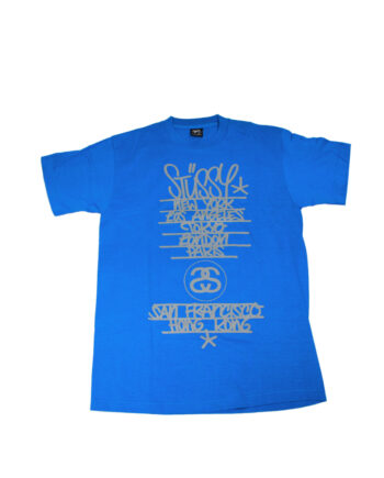 Stussy Dark Blue Tee World Tour 2006 Flying Fortress FASC1901243 Limited Edition