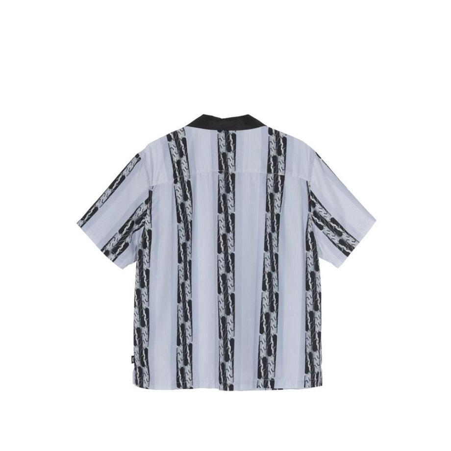 Stussy Deco Striped Shirt Light Blue 1110118