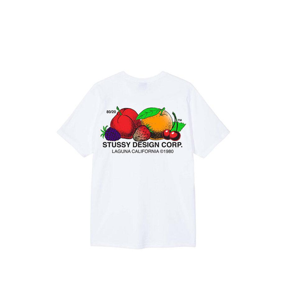 Stussy Fresh Fruit Tee White 1904542
