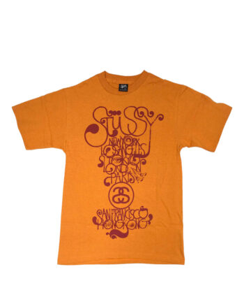 Stussy Orange Tee World Tour 2006 Brent Rollins S6SC1901241 Limited Edition