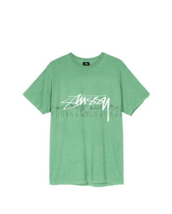 Stussy People Stripe Pig Dyed Tee Moss 1904555
