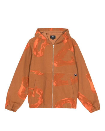 Stussy Printed Canvas Work Jacket Clay 115519