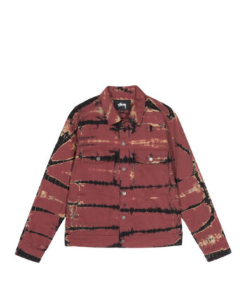 Stussy Rip Dye Ranch Jacket Brick 115515