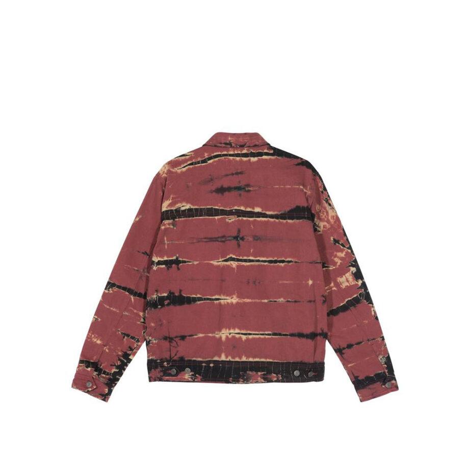 Stussy Rip Dye Ranch Jacket Brick 115515