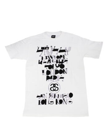Stussy White Tee World Tour 2006 Cody Hudson S6SC1901237 Limited Edition