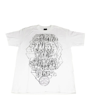 Stussy White / Black Tee World Tour 2006 Delta S6SC1901231 Limited Edition