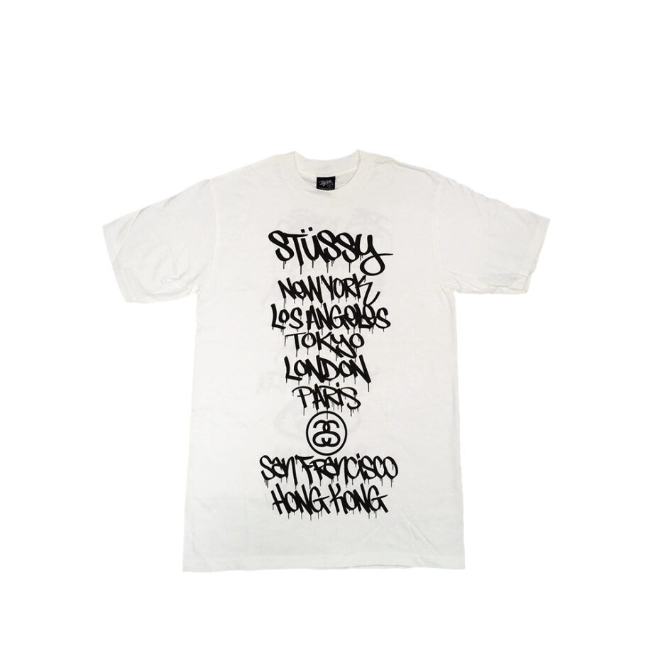 Stussy White Tee World Tour 2006 Dr. Revolt Limited Edition