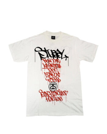 Stussy White Tee World Tour 2006 Grey Pvc S6SC1901232 Limited Edition